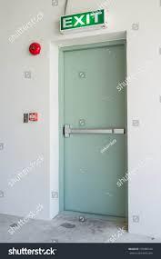 Emergency Exit Door Residential Building Stock Photo 170080106 ...