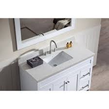 ariel bath f049s wq wht hamlet 49 single sink vanity set in white