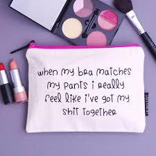 bra matches make up bag