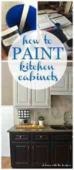 To Paint A Kitchen How To Paint Kitchen Cabinets At Home With The Barkers
