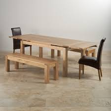 table 2 chairs and bench. dorset natural oak dining set - 6ft extending table with 2 x 4ft 11\ chairs and bench d