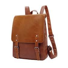 com zebella pu crazy horse leather like vintage women s backpack school bag weekender daypack light brown zebella