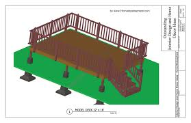 Deck Design Plans Software Free 12 X 16 Deck Plan Blueprint With Pdf Document Download