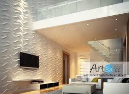 Small Picture Interior Wall Design Ideas Living Room 3D Wall Panels wall