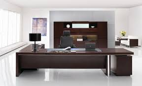 home office modern. Modern Office Desks Ideas With Brown Wooden Executive Desk In L Shape: Full Size Home