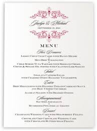 wedding menu cards & dinner party menu cards shop menus for Wedding Reception Menu Cards song contemporary and classic menus wedding reception menu card template