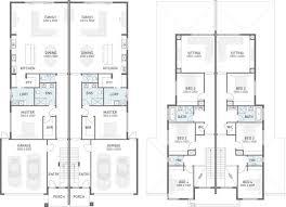 Multi Family Plan W3063 Detail From DrummondHousePlanscom4 Bedroom Duplex Floor Plans