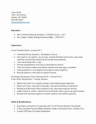 Sample Resume For Dental Receptionist With No Experience