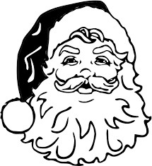 santa claus clipart black and white. Image Black And White Santa Claus Clipart Transparent Medium Png Intended
