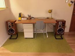 speakers desk. desk/speaker setup speakers desk p