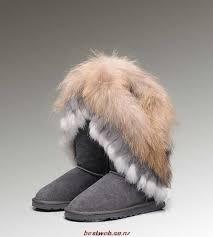 UGG Fox Fur Tall 5815 Black Boots BS831502 3940-O