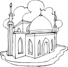 Mosque Coloring Page Free Printable Coloring Pages