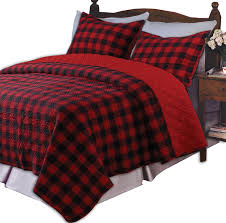 Greenland Home Western Plaid Twin Quilt Set, Red | Ease Bedding ... & Greenland Home Western Plaid Twin Quilt Set, Red Adamdwight.com
