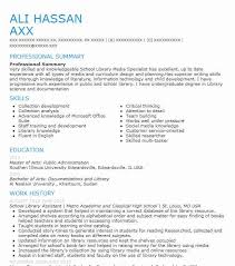 School Library Assistant Resume Sample LiveCareer Interesting Library Assistant Resume