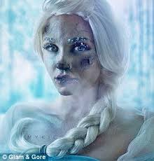 ice cold it was inspired by a project she did turning herself into frozen s