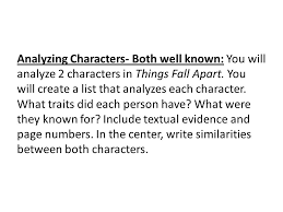 Analyzing Characters Charts Ppt Download