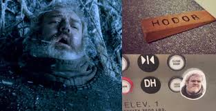 game of thrones fans make hodor doorstoppers elevator ons