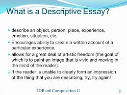 description ins demet gul phd ppt video online  what is a descriptive essay