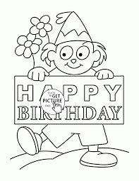 Small Picture Nice Happy Birthday Card coloring page for kids holiday coloring