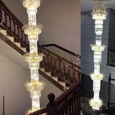 gold chandelier floor lamp stairs crystal chandeliers villa long chandelier luxury duplex floor lamps house floor