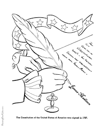 Small Picture Patriotic Symbols US Constitution Coloring Page 006