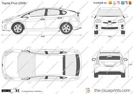 The-Blueprints.com - Vector Drawing - Toyota Prius