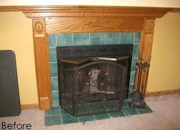 replace fireplace mantel fireplace surround transformation burger can you replace fireplace mantel