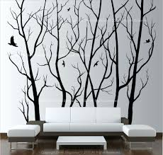 wall tree decals home large wall art decor vinyl tree forest decal sticker choose size large wall tree