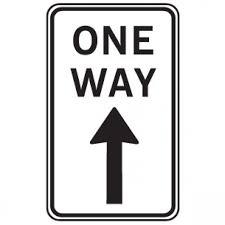 Regulatory Sign R2 17a One Way Up Arrow 450 X 800mm