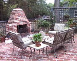 brick outdoor fireplace designs brick patio designs with traditional tiered outdoor fountains and exterior fireplace cushion
