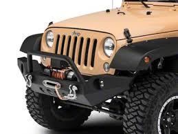 RedRock 4x4 Full Width Front Bumper w/ <b>Halogen Fog Lights</b> ...
