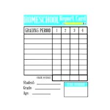 Student Report Card Template Grade School Report Card Template