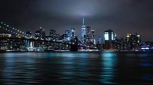 New York City Night Lights, Cityscape ...