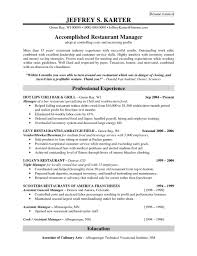 Job Resume Free Restaurant Manager Resume Examples Template Fast