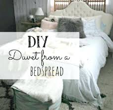 duvet cover from an old bead spread making a diy ties patterns making a duvet cover diy