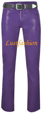 leather trousers leather jeans purple