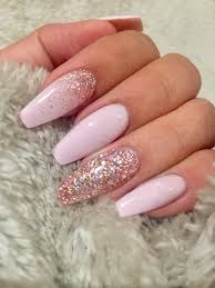 Light Pink Nails With Rhinestones Pin By Hannah Paugh On My Style Light Pink Acrylic Nails