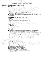 97 Summer Intern Resume Template Internship Resume Template