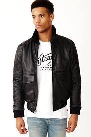 images gallery levi s leather flight jacket black