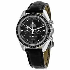 17 best ideas about omega mens watches omega omega men s o31133423001002 speedmaster moonwatch round black dial leather strap watch overstock com shopping