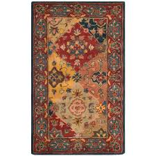 safavieh heritage red multi 3 ft x 5 ft area rug