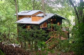 luxurious tree house. The Dove Men+Care Elements Treehouse Is Designed By Architect Pete Nelson, A World-renowned Architect, Host Of Masters And Owner Luxurious Tree House