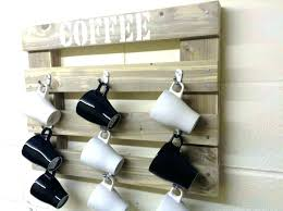 wall mounted coffee cup holder