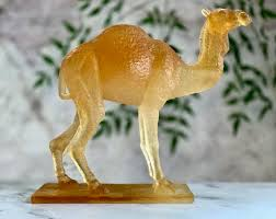 Daum French Chrystal Pate de Verre Camel Sculpture Mint Signed | Etsy