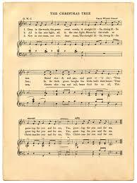 Vintage Christmas Sheet Music Printable The Graphics Fairy