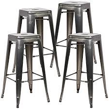 gunmetal bar stool. Fine Stool Poly And Bark Trattoria Bar Stool In Polished Gunmetal Set Of 4 To O