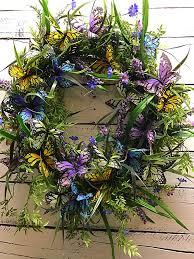 front door wreaths for summerButterfly Wreath for Front Door Spring Wreath Summer Wreath