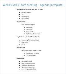 Weekly Team Meeting Agenda Template