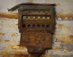 old metal industrial panel fuse box west trumbull gray art deco old fuse box