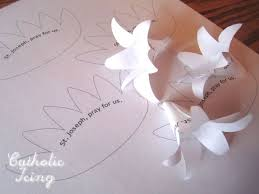 Lily Craft Printable Template Bible Class Ideas Paper Flowers